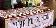 A photo of the fudge stall at Braintree Street Market.