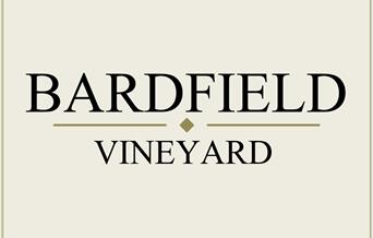 Bardfield Vineyard logo, ecru background with black text