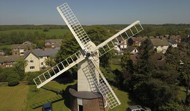 A close up photo of the Bocking Windmill.