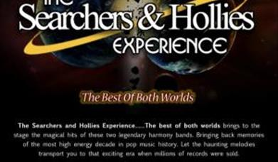 Advert for The Searchers and Hollies experience